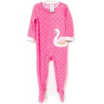 Carters Swan Princess Footie Pajamas 3T Girls New Pink PJs Hearts Soft - $23.62