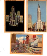New York -  20 Color Picture Postcards - Vintage 1940's - $18.50