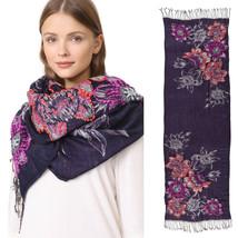 New Rebecca Minkoff Boho Cozy Scarf Opulent Hand Embroidery Women's Wrap... - €29,40 EUR