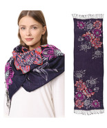 New Rebecca Minkoff Boho Cozy Scarf Opulent Hand Embroidery Women's Wrap... - $31.98