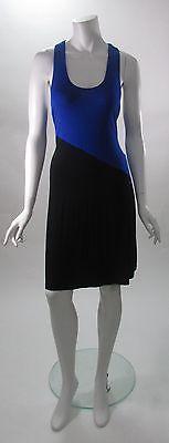 Calvin Klein Cobalt & Black Color Block Knot Back Dress NWT Sz 10