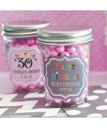 50 Personalized Mini Mason Candy Jar Birthday Party Bar Mitzvah Favor - $75.95