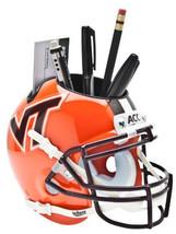 Virginia Tech Hokies (Orange) NCAA Football Schutt Mini Helmet Desk Caddy - $21.95