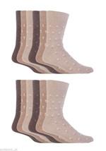 12 Pairs Mens Gentle Grip Socks Size 6-11 Uk, 39-45 Eur MGG47 Beige Brow... - $24.42 CAD