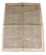 Saturday APril 9, 1859 NEW YORK TRIBUNE Newspaper Number 917 Very Nice! - $39.99