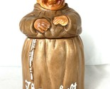 Twin Winton Friar Buddhist Monk 1960 Cookie Jar Ceramic Thou Shalt Not Steal