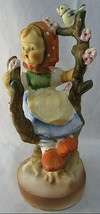 Hummel Figurine SPRINGTIME GAL Little Girl With Bird on Branche Hand Pai... - $40.00