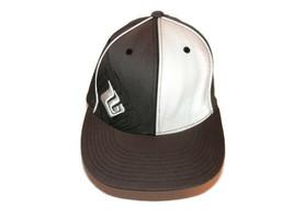 Hyperlite Baseball Hat Cap FlexFit Brown Off-White Elastic Vented Sm-Med... - $2.27
