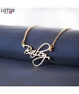 Personalized Custom Name Necklace For Women Customized Cursive Nameplate... - £20.81 GBP