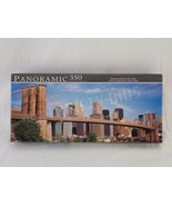 "Brooklyn Bridge New York Panoramic Jigsaw Puzzle 350 Pieces 18.25"" x 7.2... - $12.86"