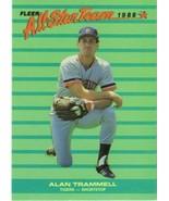 1988 Fleer All Stars #9 Alan Trammell NM-MT Tigers - $1.29