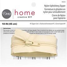 Dritz Home 44233 Nylon Upholstery Zipper, 18-Inch, Cream - $5.62