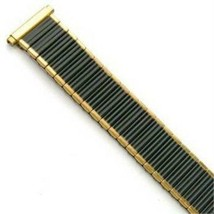 16-20mm Speidel gold and black twist o flex expansion watch band rare - $15.83