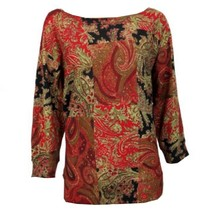 Chaps by Ralph Lauren Paisley Print Sweater Petite Small PS - $39.98