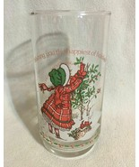 HOLLY HOBBIE GLASS WISHING YOU THE HAPPIEST HOLIDAYS Coca Cola Limited E... - $12.86