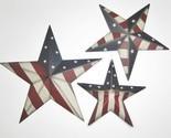 Patriotic Americana Stars with Stars & Stripes Set of 3 Grad Sizes Wall Decor