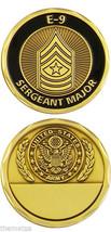 Army Serg EAN T Major E-9 Engravable Military Logo Black Bronze Challenge Coin - $14.89