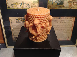Honeycomb Cherub Volcanica Candle Hand made Bali Made with Beeswax and Palm Wax image 2
