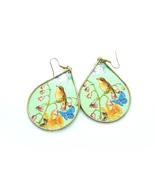 Bird Earrings, Statement Earrings, Paper Earrings, Decoupage Earrings, M... - $28.00