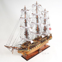 "USS Constitution Tall Ship Wooden Copper Bottom Old Ironsides 38"" New in... - $729.95"