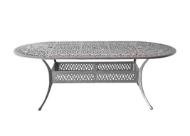 "Patio dining table 42"" x 72"" x 29"" Elisabeth cast aluminum furniture outdoor image 1"