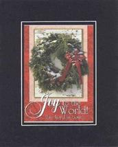 Joy to the world 8 x 10 Inches Biblical/Religious Verses set in Double B... - $11.14