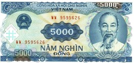 5000 Vietnam Dong Banknote Bundle 1991 P-108 UNC USA Fast Free Ship - $1.97