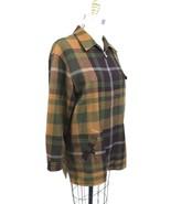 BURBERRY London 100% Wool Jacket Zip Classic Large Scale Plaid Sz 8 Womens - $215.10