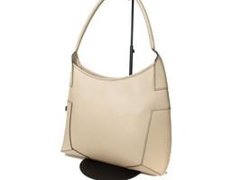 Authentic SALVATORE FERRAGAMO Light Beige Leather Shoulder Bag FS6214L - $115.00