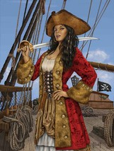 Buccaneer female Pirate wench Metal Sign by Mitch Foust - $29.95