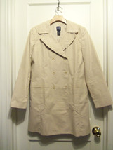 Gap Women's Double Breasted Trench Coat, Cotton Blend, Beige, Size S, NWHT - $34.62