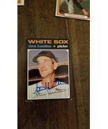 1971 TOPPS SIGNED AUTO CARD STEVE HAMILTON WHITE SOX YANKEES SENATORS LA... - $34.99