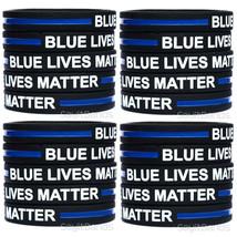 20 CHILD Size Blue Lives Matter Bands Thin Blue Line Law Enforcement Wristbands - $19.79