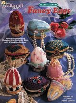 9 Plastic Canvas Russian Style Collector Fancy Easter Egg Ornaments Pattern - $13.99