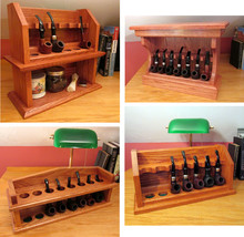Smoking Pipe Rack Wood Plans 4-Pack Build Your Own Tobacco Pipe Racks - $29.95