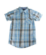 Tommy Hilfiger Boys Blue Plaid Button-Up Short Sleeve Shirt - Size 5 - $19.57
