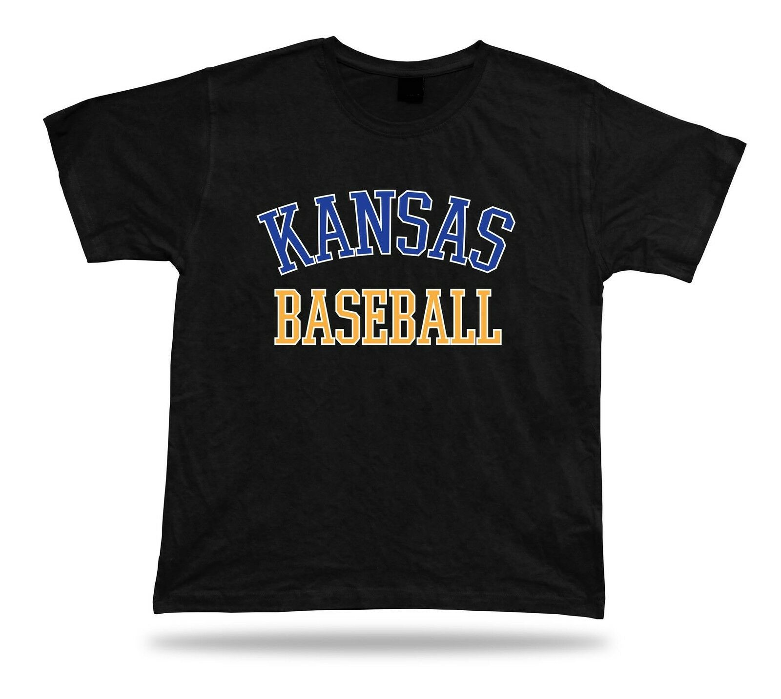 Primary image for Kansas City BASEBALL t-shirt tee blue white gold MO USA summer apparel field