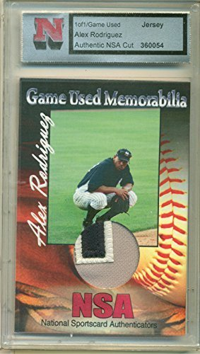 Alex Rodriguez Game Used Jersey Cut 1 of 1 Card by NSA with COA New York Yankees