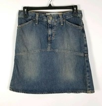 Gap Jeans Distressed Denim Jean Skirt Size 28 Waist Womens - $22.44