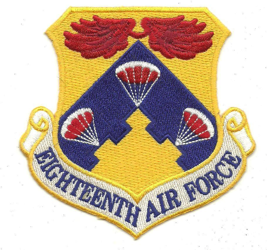 USAF Eighteenth Air Force Part Of Mobility Command Vintage Patch