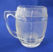 Vintage Hazel Atlas Barrel Keg Mug Shot Glass Clear Barware - $2.50
