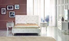 Modrest Monte Carlo Modern Leatherette Twin Bed with Crystals - $935.00