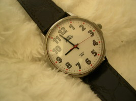 "M02, TIMEX Indiglo, Men's Watch, Silver Tone, White Face, Date, 8.5"" Band - $19.99"