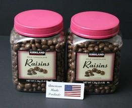 2 jars of Kirkland Signature Milk Chocolate Covered Raisins,3.4lbs = 54 oz - $40.19