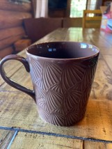 2009 Starbucks Brown Fan Coffee Tea Mug Cup Design House Stockholm 16 Oz - $4.95