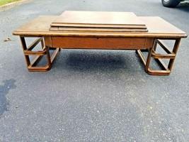 Vintage Singer Sewing Machine Pop Up Hidden Wood Desk Frame - $106.63 CAD
