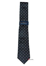Club Room Estate Men's Neck Tie Black with Purple White Stars 100% Silk ... - $19.80