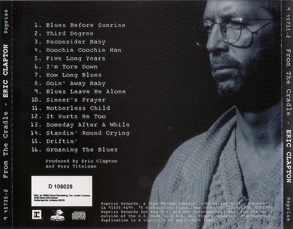 From the Cradle by Eric Clapton (CD, Sep-1994, Reprise)
