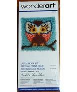 Wonderart Hoot Hoot Latch Hook Kit 12 X 12  # 426112 New, sealed - $9.00