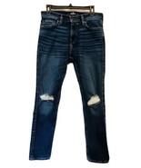 Hollister California Mens Medium Wash Distressed Straight Leg Jeans Size... - $23.34